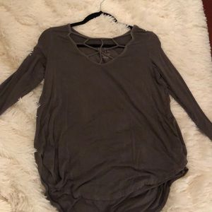 """long sleeved """"soft and sexy"""" american eagle shirt"""